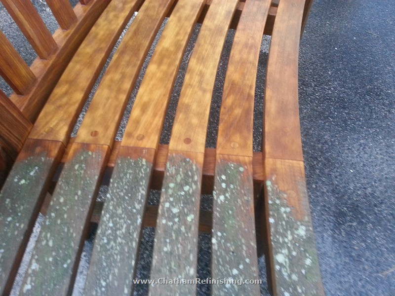 "Chatham Refinishing offers a variety of teak finishes and cleaning options.  We are very experienced in providing answers and discussing our clients expectations in the restoration or initial application of the wide variety of options. Our teak restorations range from natural weathering protectants to ""pre-weathered grey"" finishes to our own proprietary high gloss yacht finishes.  Our residential and commercial programs maintain the appearance that is right for the particular installation and environment."
